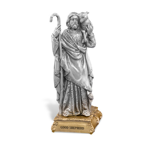 Good Shepherd Pewter Statue