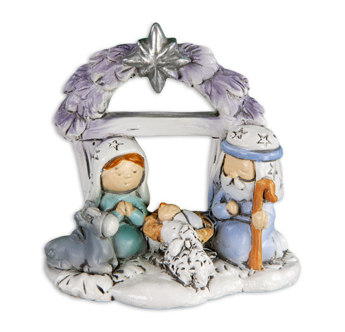 "2"" Holy Family Star Arch Christmas Figure 