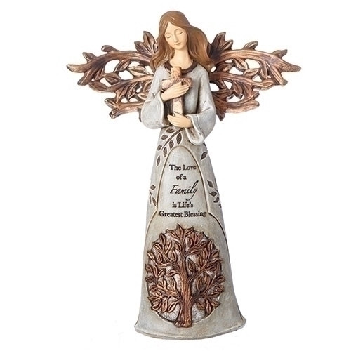 "9"" Tree of Life Angel with Cross 