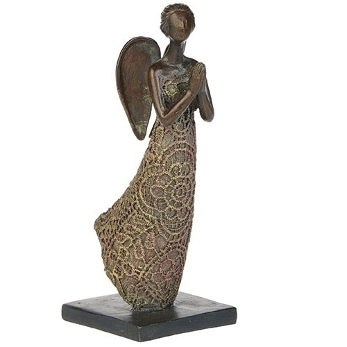 "6"" Lace Praying Angel Statue 