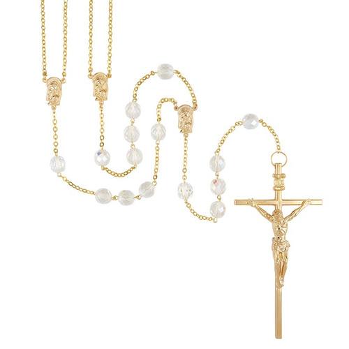 "Crystal Lasso Wedding Rosary | 48""L"