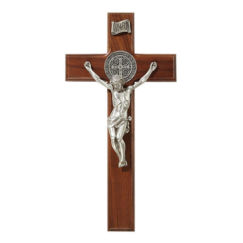 "10"" Saint Benedict Crucifix 