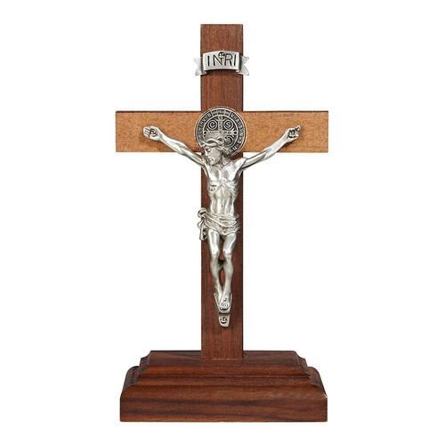 "6"" St. Benedict Standing Crucifix 