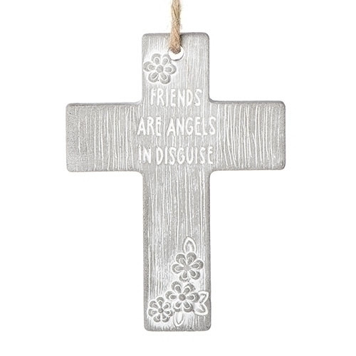 """4"""" Friends Are Angels Cross with Cord 