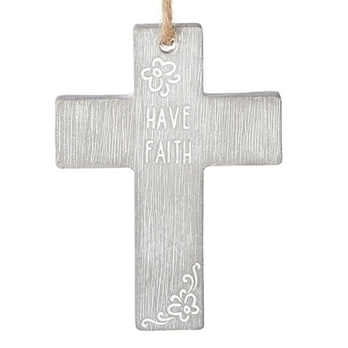 "4"" Have Faith Cross with Cord 
