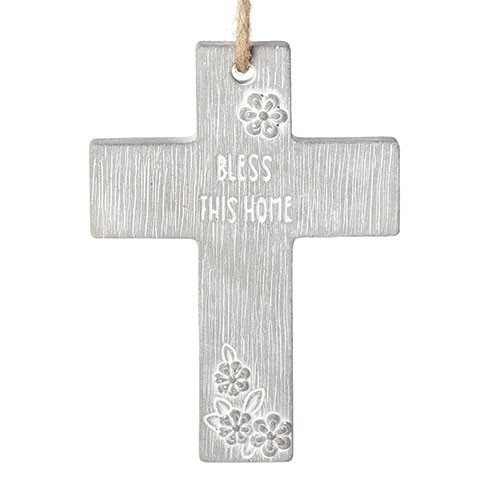 "4"" Bless This Home Cross with Cord 