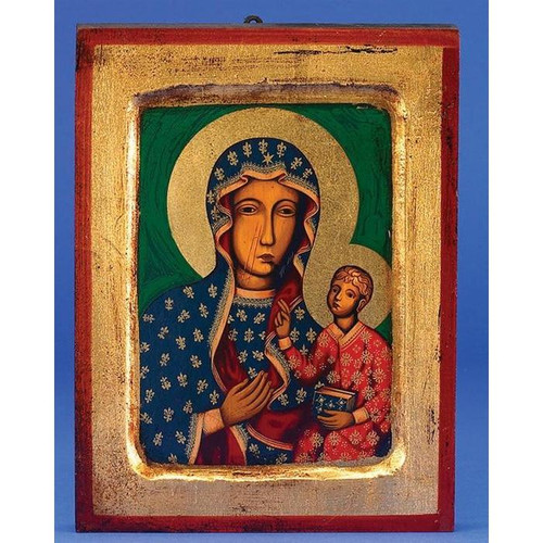 "9"" Our Lady of Czestochowa Icon 