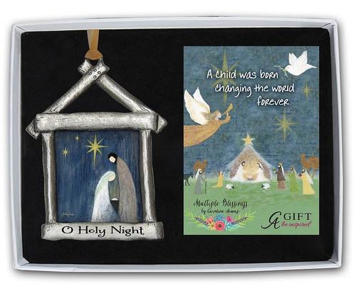 Holy Night Boxed Nativity Ornament |