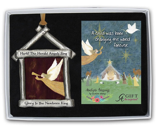 Hark! The Herald Angels Sing Boxed Nativity Ornament |