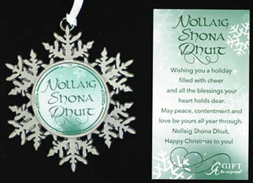 Irish Merry Christmas Ornament