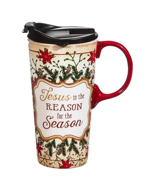 Jesus Is The Reason For The Season Travel Mug   Festive Gift Box