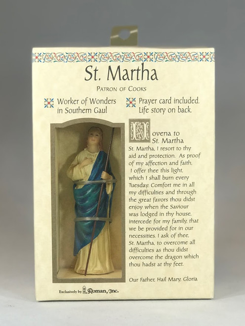 "St. Martha Devotional Kit | 3.5"" Statue + Prayer Card"