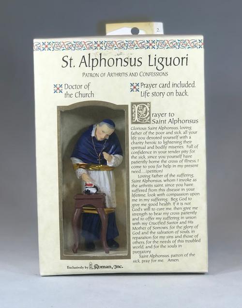 "St. Alphonsus Liguori Devotional Kit | 3.5"" Statue + Prayer Card"