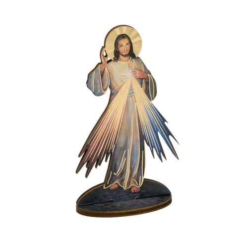 "6"" Divine Mercy Wood Statue"