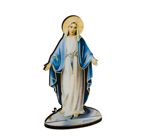 "6"" Our Lady of Grace Wood Statue"
