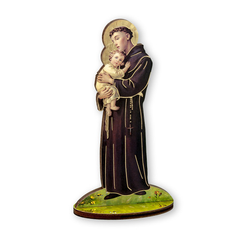 "6"" Saint Anthony of Padua Wood Statue"