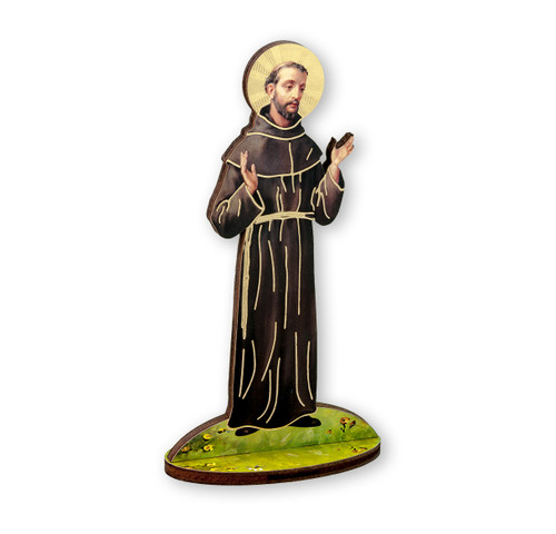"6"" Saint Francis of Assisi Wood Statue"