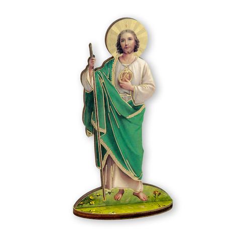 "6"" Saint Jude Thaddeus Wood Statue"