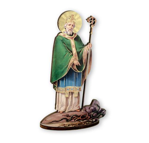 "6"" Saint Patrick of Ireland Wood Statue"