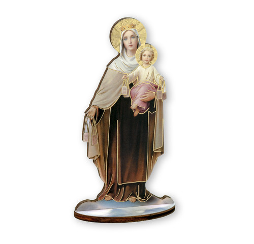 "6"" Our Lady of Mount Carmel Wood Statue"
