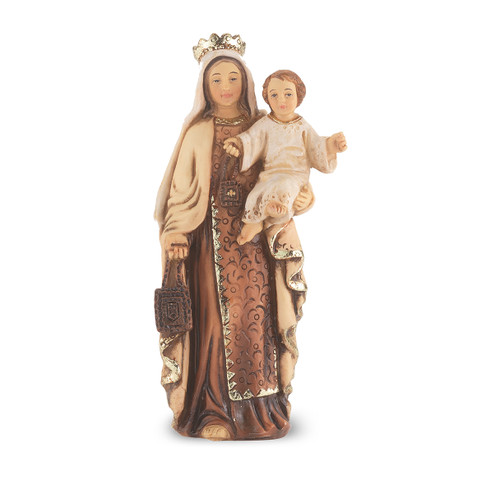 """4"""" Our Lady of Mount Carmel Resin Statue"""