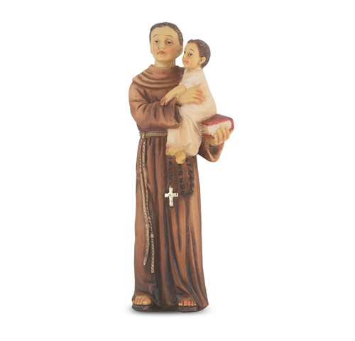 "4"" Saint Anthony of Padua Resin Statue"
