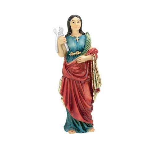 "4"" Saint Agatha of Sicily Resin Statue"