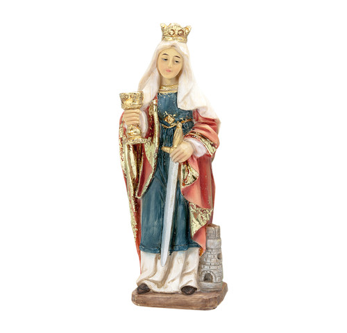 "4"" Saint Catherine of Siena Resin Statue"