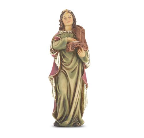 """4"""" Saint Cecilia Resin Statue"""