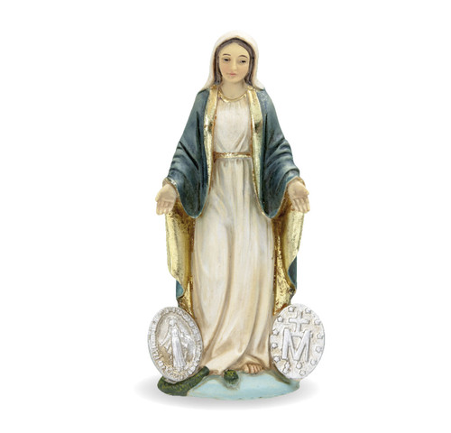 """4"""" Our Lady of the Miraculous Resin Statue"""