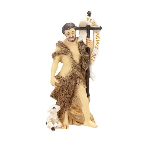 """4"""" St. John the Baptist Resin Statue"""