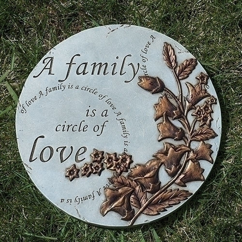 """9"""" A Family Is A Circle of Love Garden Stepping Stone"""