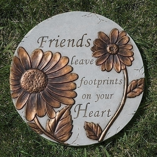 "9"" Friends Leave Footprints Garden Stepping Stone"