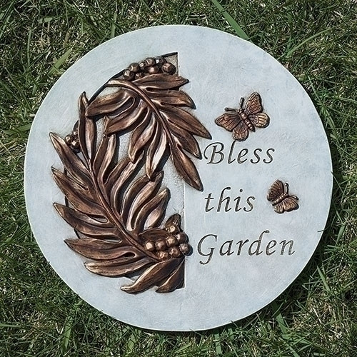 """9"""" Bless This Garden Stepping Stone"""