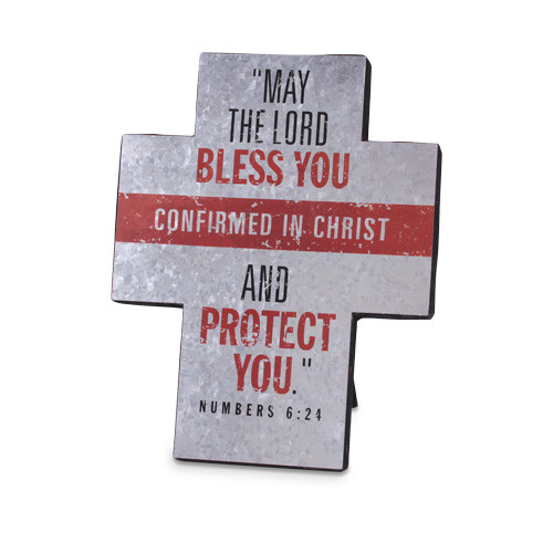 """7"""" Confirmed In Christ Standing Cross"""