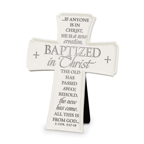 """6"""" Baptized In Christ Wall/Desk Cross"""