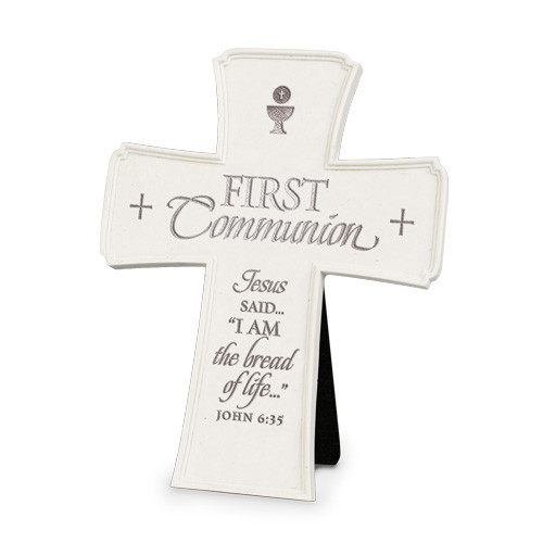 "7"" First Communion Wall/Desk Cross"