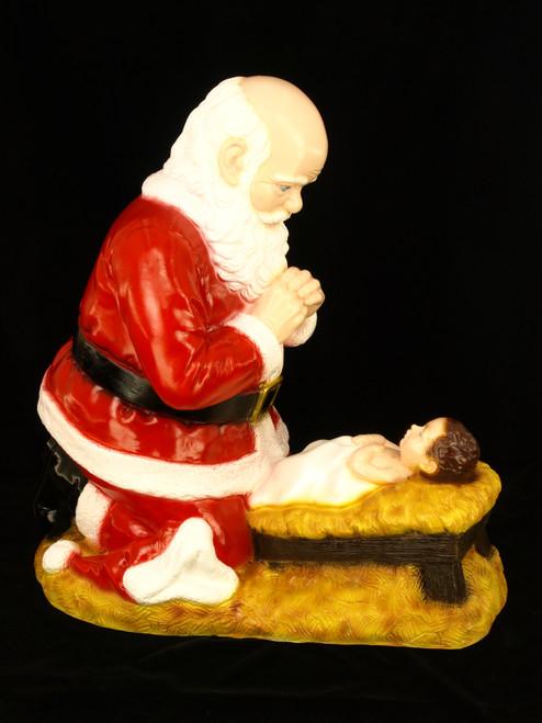 "24"" Kneeling Santa Indoor/Outdoor Statue | Industrial-Grade Plastic | Multiple Finishes Available"