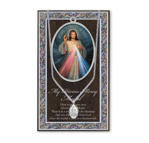 Divine Mercy Biography Pamphlet and Patron Saint Medal