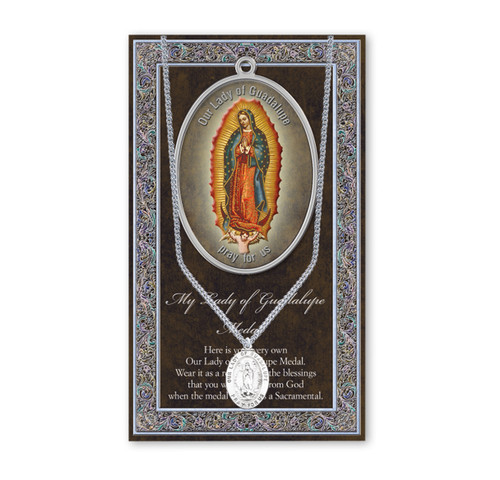 Our Lady of Guadalupe Biography Pamphlet and Patron Saint Medal