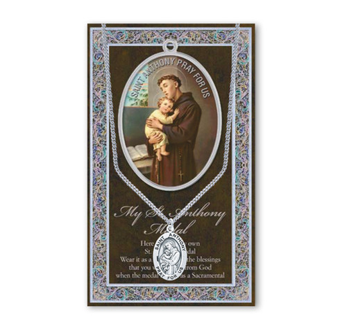 Saint Anthony Biography Pamphlet and Patron Saint Medal