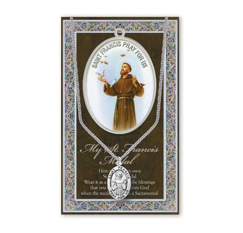 Saint Francis Biography Pamphlet and Patron Saint Medal