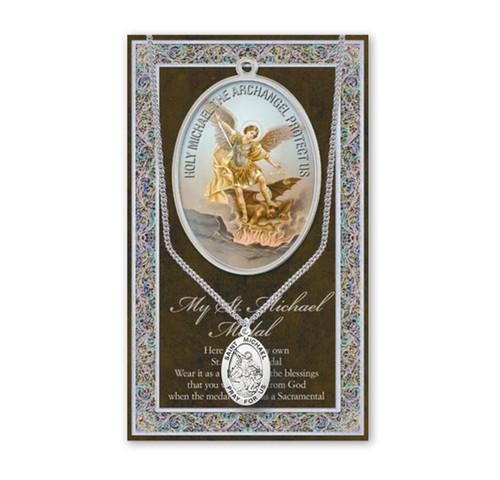 Saint Michael Biography Pamphlet and Patron Saint Medal