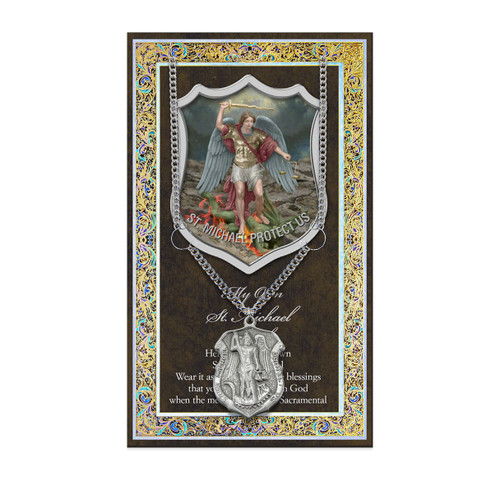 Saint Michael Police Biography Pamphlet and Patron Saint Medal