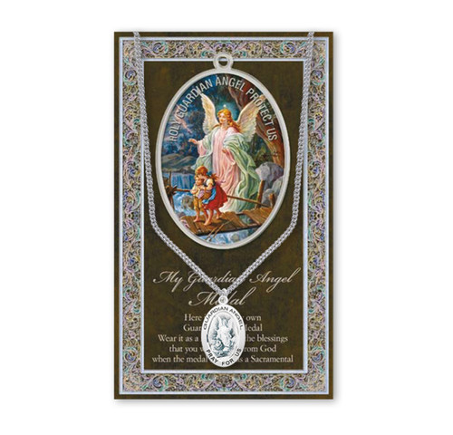 Guardian Angel Biography Pamphlet and Patron Saint Medal