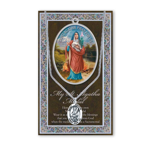 Saint Agatha Biography Pamphlet and Patron Saint Medal