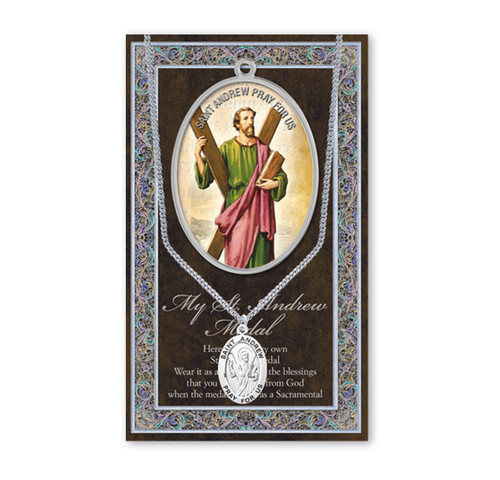 Saint Andrew Biography Pamphlet and Patron Saint Medal