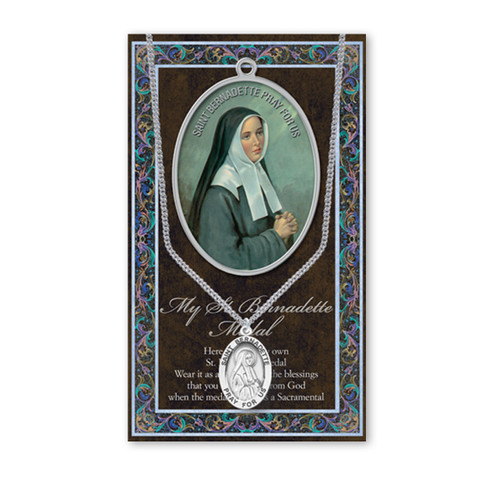Saint Bernadette Biography Pamphlet and Patron Saint Medal