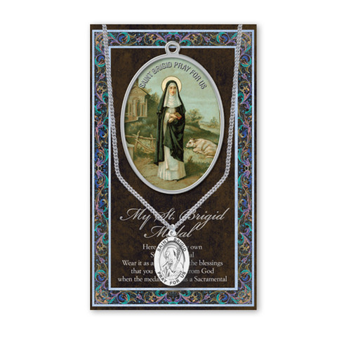 Saint Brigid Biography Pamphlet and Patron Saint Medal