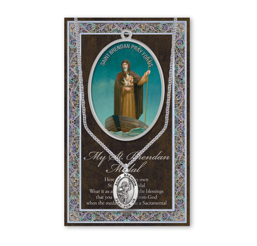 Saint Brendan Biography Pamphlet and Patron Saint Medal